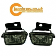 Mk2 Golf Smoked Crystal Fog Light Set With Brackets (Big Bumper)
